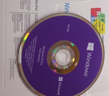 China Siegel-Bit PC Computer-Software Windows 10 Fachmann-64 DVD- + COA-Lizenz-Schlüssel usine